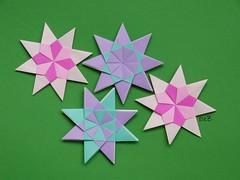 Stern Nadja 2012 by Carmen Sprung (esli24) Tags: christmas xmas weihnachten paperfolding weihnachtsstern origamistar christmasstar papierfalten carmensprung origamistern ilsez elsi24 sternnadja2012