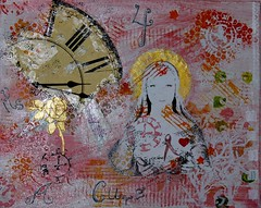 "Mixed Media ""Mary"" (Only1irish1) Tags: breastcancer thevirginmary acryliconcanvas timeforacure mariestarkart"