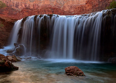 Little Navajo Falls (Rob Kroenert) Tags: sunset arizona usa creek waterfall long exposure little native dusk indian grand az canyon falls american havasu navajo reservation supai havasupai littlenavajofalls