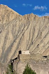 Ruined fortress at Markha (Miche & Jon Rousell) Tags: sunlight india trekking river evening ruins himalaya fortress ladakh ruined markhavalley markha markhariver