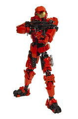 Sarge from Red Vs Blue (DViddy) Tags: blue red factory lego teeth halo system technic hero rooster bungee vs shotgun fusion bionicle spartan sarge dirtbag rvb moc fitsop