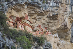 Pre-Incan Tombs (Jo and the Boyz) Tags: cliff tomb andes chachapoyas preincan chulpas revash peru2011