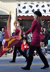 Flags (Nicholas Delaney) Tags: christmas winter usa white black girl yellow fun interesting nikon purple flag best parade highschool wv westvirginia lucky charlestown 2012 jeffersoncounty d5000