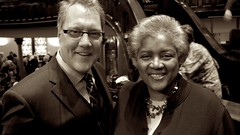 Donna Brazile and Tim Hart-Andersen