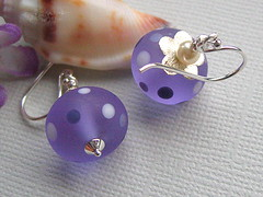 Viola (Beguiled By The Bead) Tags: jewellery earrings glassbead lampwork beaded sterlingsilver trudidoherty