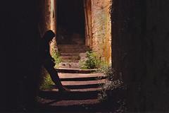 Blind alley. (ChiaRAW.) Tags: light girl vintage dark alley lane