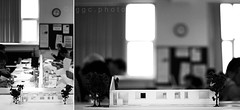 model making... (ggcphoto) Tags: blackandwhite students studio diptych dof interiordesign modelmaking lcfe gettyimagesirelandq12012 yahoo:yourpictures=yourbestphotoof2012