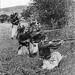 Anonyme 14 - Course à la mer , Lassigny (France), Septembre 1914- Eléments du 4 ème Regiment de Zouaves réunis dans une Brigade de Marche Marocaine en Tirailleurs