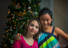 Julia and Hannah - A Christmas Portrait (dcimageforge (Danny Collado PixelWorks Photography) Tags: birthday christmas family friends light party portrait kids forest children outdoors 50mm one kid nikon flickr child outdoor north northcarolina carolina 18 2012 d800 50mm18 onelight sb700 dcimageforge dannycollado