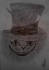 cade sua lou[cura]? (AlexandreFurtado) Tags: cheshire gato desenho lapis loucura alicenopaisdasmaravilhas gatodecheshire