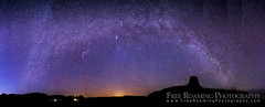 Milky Way Panorama Over Devil's Tower (Free Roaming Photography) Tags: sky panorama usa west tower night stars star ngc panoramic spire andromeda galaxy western northamerica galaxies wyoming devilstower meteor nationalmonument lightpollution milkyway shootingstar devilstowernationalmonument andromedagalaxy milkywaygalaxy