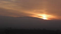 Wrekin sunrise (rockwolf) Tags: sun mist colour fog clouds sunrise shropshire valley wrekin rockwolf almostasunpillar