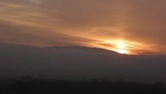 Wrekin sunrise (rockwolf) Tags: sun mist colour fog clouds sunrise shropshire valley wrekin rockwolf almostasunpillar