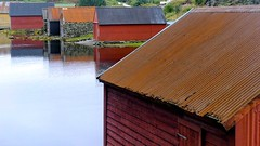 Rusty (halifaxlight (back in March)) Tags: ocean red norway reflections grey fishing rust sheds boatsheds greatphotographers radoy vanagram bovagen