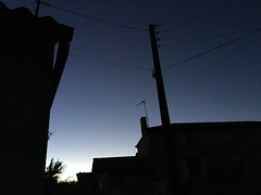 Evening, France (Dradny) Tags: poetry love blue power cables dusk france