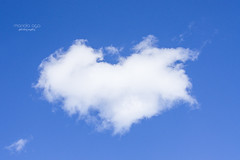 cottoncandy (mariola aga) Tags: sky cloud heartshape blue white funshot cottoncandy