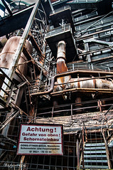 Achtung ! (ericbaygon) Tags: usine plant factory metallurgy metallurgie d300s nikon nikonpassion vlligen germany allemagne