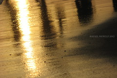 Shadows at the beach (Guervs) Tags: atardecer sunset playa seaside beach marbella costadelsol   residencia tiempolibre mlaga andaluca andalusia espaa spain sombras shadows naranja orange contraluz mar mediterrneo mediterranean sea