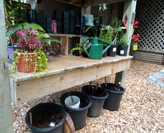 Potting table (honestabby) Tags: gardenbloggersfling gardentour pottingtable