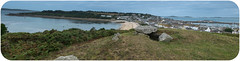 Burial Cairn overlooking Hugh Town, Isles of Scilly. (Colin's Camera) Tags: diving islesofscilly stmarys