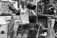 River Wash (Darragh Sherwin) Tags: vietnam mekong delta river washing black white bw asia