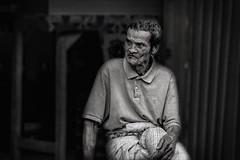 Bali 16 (kruser1947 (all killer no filler)) Tags: bw blackwhite monochrome bali man indonesia people street work
