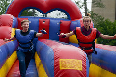 WOW New Student Inflatables and Ice Cream (Baldwin Wallace University) Tags: new students week welcome color group student north quad inflatables ice cream fun meet greet activities social