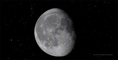 ...schon wieder auf Dit ?  (-: (Harald Steeg) Tags: deutschland sachsen bautzen haraaldsteeg fz200 abnehmendermond sternenhimmel nachtaufnahme montage