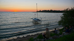 Two Weeks of Sunsets: August 5, 2016 (Craig James White) Tags: canada ontario brucecounty saugeenshores miramichibay sunset clouds afterglow hobie