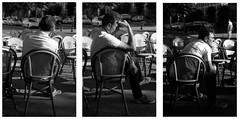 """Pense....Tropisme"" (praetorian29620) Tags: fdrouet terrasse bw nb film street rue afd analog analogique analogico blackandwhite noiretblanc negroyblanco biancoenero monochrome monochromnikon f801s nikkor 50mm18 lc29 fp4 ilford scan epson v370 calle strada homme man hombre histoire story grain morlaix bretagne brittany"