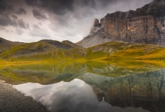 Lac d'Anterne Reflections - French Alps (sunstormphotography.com) Tags: lacdanterne pointedanterne passy coldanterne france frenchalps reflection landscape dawn canon5dmark3 canon24105l ndgradfilter polarisingfilter lake water