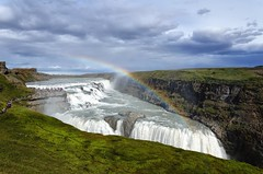 Catching A Rainbow.... (scrapping61) Tags: scrapping61 2016 iceland gullfoss rainbow waterfall canyon landscape nature