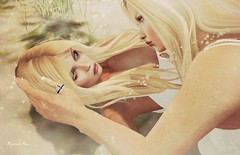 Peaceful  Moments (BijankRau   [ photograp'r model.]) Tags: lw poses couple girls secondlife love peaceful moments tender blondes dutch beautiful