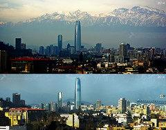 PANO ORIENTE 2014-2016 (javier_carras) Tags: vistas views urbanviews urban torres towers slr skyscrapers skyline santiago sacramentinos river rascacielos poniente pentaxsmc pentaxdal55300mm pentaxart pentax panoramic mountains kmount justpentax highway highrises edificios downtown desorden day colours cladding cityscape cieloazul cerro center buildings beautifulsettings background backdrop autopista altura architecture