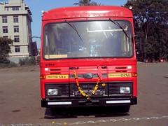 Front View of the brand new EICHER bus of Miraj Depot (gouravshinde94) Tags: msrtc eicher bus volvo sangli