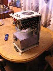 Induction Heater - First power and fail - Broken Water Cooler Core 22-08-2016 (2) (Lord Inquisitor) Tags: cw3000 water chiller cooler matrix core repair aluminium copper soldering