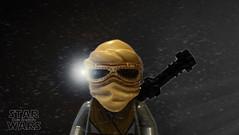 Rey Goes Scavenging (LegoLee) Tags: rey bradbury concessionstand jakku niima outpost starwars lego light dust imperial stardestroyer torch firstorder