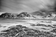 """Lofoten2016-11 (Federico """"Jger"""" Serafini) Tags: norvegia lofoten ghiaccio rocce rocks norway aurora boreale northern light clouds nuvole sea spiaggia long exposure"""