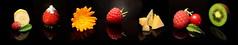 Fruits (Theo Crazzolara) Tags: fruit fruits früchte frucht hintergrund background studio obst healthy health gesund episch epic natur nature plant plants pflanzen blume flower blossom blüte banana banane raspberry raspberries himbeere mint minze strawberry strawberries sugar zucker sweet süs beautiful schön ringelblume common marigold muskmelon melone zuckermelone cherry cherries kirsche kiwi kiwifruit lifestyle