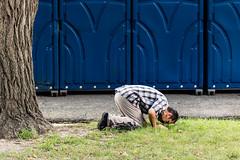 International Festival (Fred Ortlip) Tags: praying portapotty stlouis streetphotography internationalfestival towergrovepark prayer internationalinstitute festivalofnations festivals