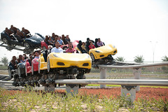 Ferrari World (micebook) Tags: ferrari world abu dhabi uae emirates arab united roller coaster life lights beach sky tourism