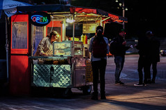 Working is cool (kazunori k) Tags: street night city food people snapshot color downtown xt1