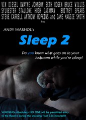 Hollywood's Latest Film Remake (dnskct) Tags: wah werehere hereios film remake sequel movies andywarhol sleep poster august302016
