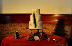 Geode cake (jennywenny) Tags: wedding cake geode offbeat fossil marble gold green