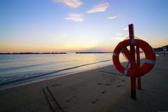 Red Lifebelt (Mario Ottaviani Photography) Tags: sony sonyalpha sea seascape dawn alba italy italia paesaggio landscape travel adventure nature scenic exploration view vista breathtaking tranquil tranquility serene serenity calm walking red lifebelt
