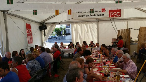 Carpa PSC festa major Montornès del Vallès