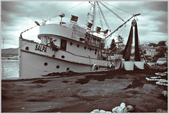 Fisher Boat (m#p) Tags: fish fishermen net fishing boat sea clouds krk croatia sepia rx100 sony