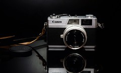 Canonet 28 (James Jacques) Tags: caamera vintage nikon canon canonet 28 d7000 reflection symmetry black flash still life