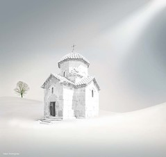 Peace  (Sako Tchilingirian) Tags: light sky sun white inspiration snow abstract black tree art church saint fog stone architecture night digital photoshop canon watercolor painting photography photo blackwhite artwork nikon view cross minolta religion digitalart best historic holy monastery illusion fantasy armenia historical imagination christianity oleg hdr armenian sako manupulation illuminator dou   massacres surb           tchilingirian