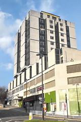 grosvenor hotel (Harry Halibut) Tags: blue sky black green architecture square concrete hotel gate closed sh